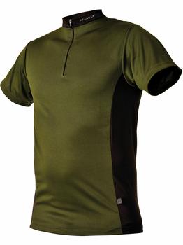 104059 38 Zipp Neck Shirt kurzarm