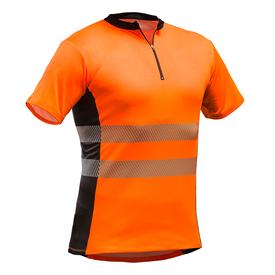 Pfanner Tencel Poly ZipNeck Shirt kurzarm EN20471 orange 1