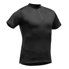 Pfanner Tencel Poly ZipNeck Shirt kurzarm schwarz
